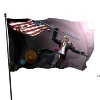 NUOVO!!! Mantieni l'America Grande First Tank Hero Donald Trump Flag 90x150cm HWE9586