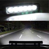 6 LED 12W auto DRL Werklampen Spotlight Universal Offroad Automobile Truck Drijvende Mist Lamp Lamp Koplamp 1pcs / 2pcs Light Bar