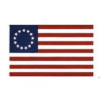 Großhandel Fabrikpreis doppelt genäht 3x5 fts 13 Sterne US USA 1777 American Betsy Ross Flag DHD5646