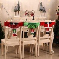 كرسي عيد الميلاد غطاء سانتا كلوز حزام كرسي يغطي ghristmas قزم فتاة تنورة البراز ديكورات DWA8771