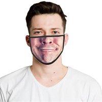 Многоразовые моющиеся смешные моды маска для лица 3D выражение эмоции личности маски пылезащитные дымоходы дышащие маски EEB5644