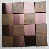 Duvar Kağıtları Bakır Mozaik Kiremit Metal Ev Dekorasyon Için 1 Metrekare / Lot Vintage Stil