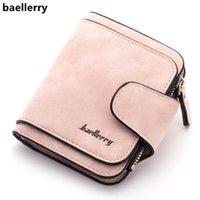 محافظ Baellerry Lady's Wallet 2021 المرأة فرك جلد محفظة أنثى للعملات carteira feminina bolsa