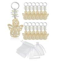 الحلي 20 قطع المعمودية الملاك حلقة رئيسية خشب المفاتيح لصالح المعمودية هدايا تذكارية بالتواصل تفضل للصبي أو الفتاة