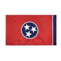 Toptan Fabrika Fiyat 100% Polyester 90 * 150 cm 3x5 FTS Doğu Amerika Birleşik Devletleri Tennessee Bayrağı dekorasyon için OOD5726