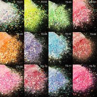Nail Glitter KXY 12color 50g bag Bulk Powder Illusion Powders Color Changing After Light Reflect Sequin Mixed