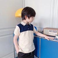 2021 Casual Baby Polo Summer Mode Enfants Garçons à manches courtes T-shirt Enfants Coton Vêtements Top