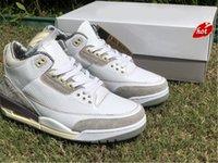 2021 a ma maniere x أصيلة 3 أحذية في الهواء الطلق الرجال المتوسطة رمادي البنفسجي خام الأبيض مانيعر جزء mocha unc متسابق الأزرق DH3434-110 مع
