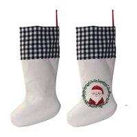 التسامي الجاموس منقوشة عيد الميلاد تخزين 4 ألوان فارغة هالوين الحلوى الجوارب سانتا هدية حقيبة عيد الميلاد شجرة oranment FWD9232