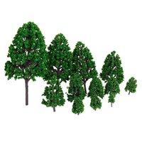 2021 diversão toys12 peças de plástico verde trem parque parque jardim paisagem paisagem diy 1/50 escala árvores brinquedos para crianças
