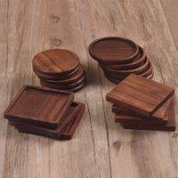Ahşap Boasters Çay Kahve Fincanı Pad Placemats Dekor Ceviz Woodcoasters Dayanıklı Isıya Dayanıklı Kare Yuvarlak İçecek Mat Bowl DWE5534