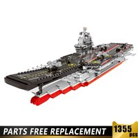 06020 NEW Military Army Ship Series Classic USS Missouri Battleship Missile Destroyer Building Blocks Vessel Bricks Juguetes X0503