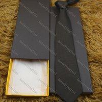 Men's Letter Tie Silk Necktie Little Jacquard Party Wedding Woven Fashion Design with box L889