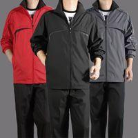 Spring et Automne Middled and Sports Sports Hommes Spring et Automne Veste Casual Polyester Veste Midelle Sportswear Dad Wear S