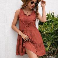 Casual Dresses Summer Silk Dress For Women Bohemian Wedding Guest Ladies Long Vintage Solid High Waist Maxi Fashion Robe