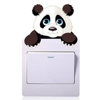 Wall Stickers 5PC Lovely Panda Switch Outlets Living Room Decoration Cartoon Animals Mural Art Home Decals Posters Children Kids Gift