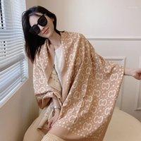여성 스카프 긴 Bufanda 모조 캐시미어 디자인 스카프 두꺼운 담요 및 Shawls 풀라로드 Pashmina Neckerchief 180 * 65cm1