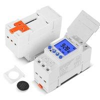 Electronic Weekly 7 días Programable Digital Interruptor de tiempo industrial Relé Control de temporizador AC 220V 16A Temporizador de montaje en riel DIN