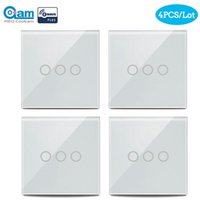 Z-Wave Touch Touch Sensible Switch Switch 3 Gang EU Type 868.4MHz Z Wave Sans Wireless Smart Télécommande Accueil