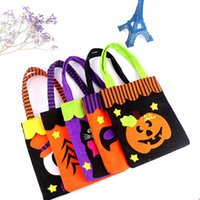 Halloween decoration props non-woven tote festival ghost pumpkin candy gift bag
