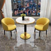 간단한 라운지 협상 리셉션 단일 의자 레저 발코니 작은 커피 테이블 및 의자 조합 라이트 럭셔리 크리 에이 티브 메이크업 의자