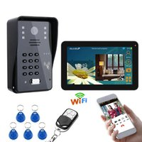 Inch Wired   Wireless Wifi RFID Password Video Door Phone In...