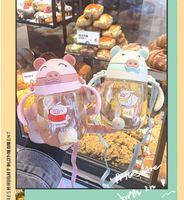 Bottiglia di acqua per bambini 320ml Bambini bambini Cartoon Animal Bere Prodotti Alimentazione beveweker School con tracolla