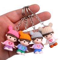 열쇠 고리 4 곰 토끼 스웨터, 연인, 자동차 열쇠 고리, 연인의 가방 및 펜던트에 대 한 창조적 인 키 체인
