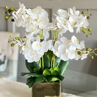 Decorative Flowers & Wreaths Butterfly Orchid Artificial Flower Bouquet Silk Phalaenopsis Fake Home Decor DIY Crafts Wedding Decoration