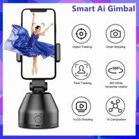 All-in-One Auto Smart Celular Stand Ai Gimbal 360 ° Rotação Rastreamento de Rastreamento Câmera Pessoal Robô Cameraman Selfie MonoPods