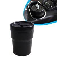 자동차 미니 쓰레기통 수 있습니다 다기능 컵 홀더 캡 마운트 오토 스토리지 버스 팅 인테리어 쓰레기 컨테이너 폐기물 주최자 다른 액세서리