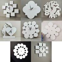 Blancos de la sublimación de 12 pulgadas Relojes de pared DIY Patrón de imagen Transferencia de calor Reloj MDF Decoraciones para el hogar 8 estilos XD24596