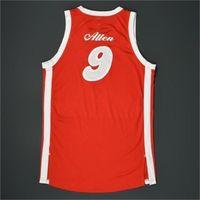 888Rare jersey de basquete homens juventude mulheres jogo vintage desgastado 1974-75 tony allen sons estrada 2015-16 temporada tamanho ensino médio s-5xl personalizado qualquer nome ou número