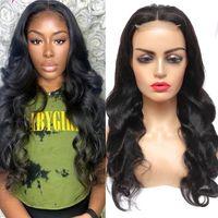 Körperwelle 30 Zoll lange Spitze Front Human Hair Perücken 4x4 Vor Spitze Verschluss Perücke Für Frauen Brasilianische Haare Gewebt