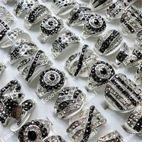 10Pcs Silver Plated Rings For Women Fashion Whole Jewelry Bulks Lots LR173 210924