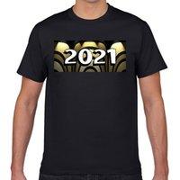 남자 티셔츠 탑스 티셔츠 남성 2021 해피 년 힙합 빈티지 긱 인쇄 남성 tshirt fa001