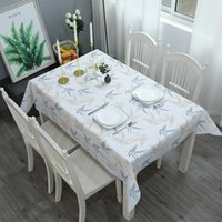 Tablecloth Cotton Linen Nordic INS Square Lattice PVC Printing Tea Table Cover Dust Cloth Small Fresh Runner Napkin Party