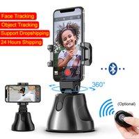 Tripé heads telefone celular smart ptz gimbal stabilizer selfie vara video follow-up face de acompanhamento reconhecimento de rastreamento de rastreamento em tempo real gravação de 360 ° titular da câmera