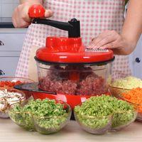 Mixer Food Processor Kitchen Manual Powerful Egg Blender Meat Grinder Vegetable Chopper Shredder Stainless Steel Blade Cutter