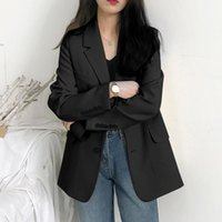 Blazer Women 2021 Office Ladies Female For Solid Color Loose Autumn Long Sleeve Blazers And Jackets Suit Coat Women's Suits &