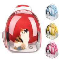 Носители кошек, ящики Дома Красивые Дышащие портативные Pet Carrier Board Onower Открытый Путешественник Путень Прозрачный Космический рюкзак