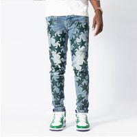 American High Street Brand Amir Blue Patchwork промытые джинсы дизайнерские мужские брюки брюки уличные пояс мужские джинсы брюки мужская одежда мужская