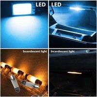 Car Dome Lamp Door Ice Blue Interior Light Panel Parts 10pcs 12V 24LEDs LED Emergency Lights