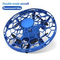 XKJ New Mini Drone UFO RC Quadcopter Инфракрасный датчик Sensor Anti Collision Самолет Ручка дистанционного управления Вертолет Детская игрушка 210325