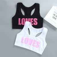 Fashion Camisole Girl Bra Teen Crop Top Underwear Vest Racerback Puberty Sport Training Bras Letter Streetwear Tube Tops 7-14Y 9217