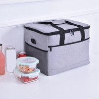 Dinnerware Sets Large Capacity Cooler Bags Oxford Insulation Lunch Box Thermal Drink Beer Travel Picnic Fresh Keeping Containers