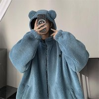 Men's Hoodies & Sweatshirts Kawaii Warm Hip Hop Bear Ear Hoodie Streetwear Men High Street Sweatshirt Girls Cool Tops Cute Funny Winter Autu
