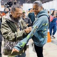 2019cpfm Kid Cudi efeito luminoso suéter Murakami homens e mulheres hoodies moda casacos de marca