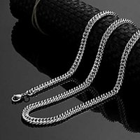 Men Women Stainless Steel Cuban Necklace Link Chain Punk Hip Hop Gold Long Gift For Male Accessories Wholesale Chains