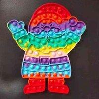 2021 Cravate de Noël Dye Power Poo-Ses jouets Fidgets Poppers Bubbles Santa Claus Forme Décompression Toy Pioneer Grand Taille Mega Board jeu G80SHZ7